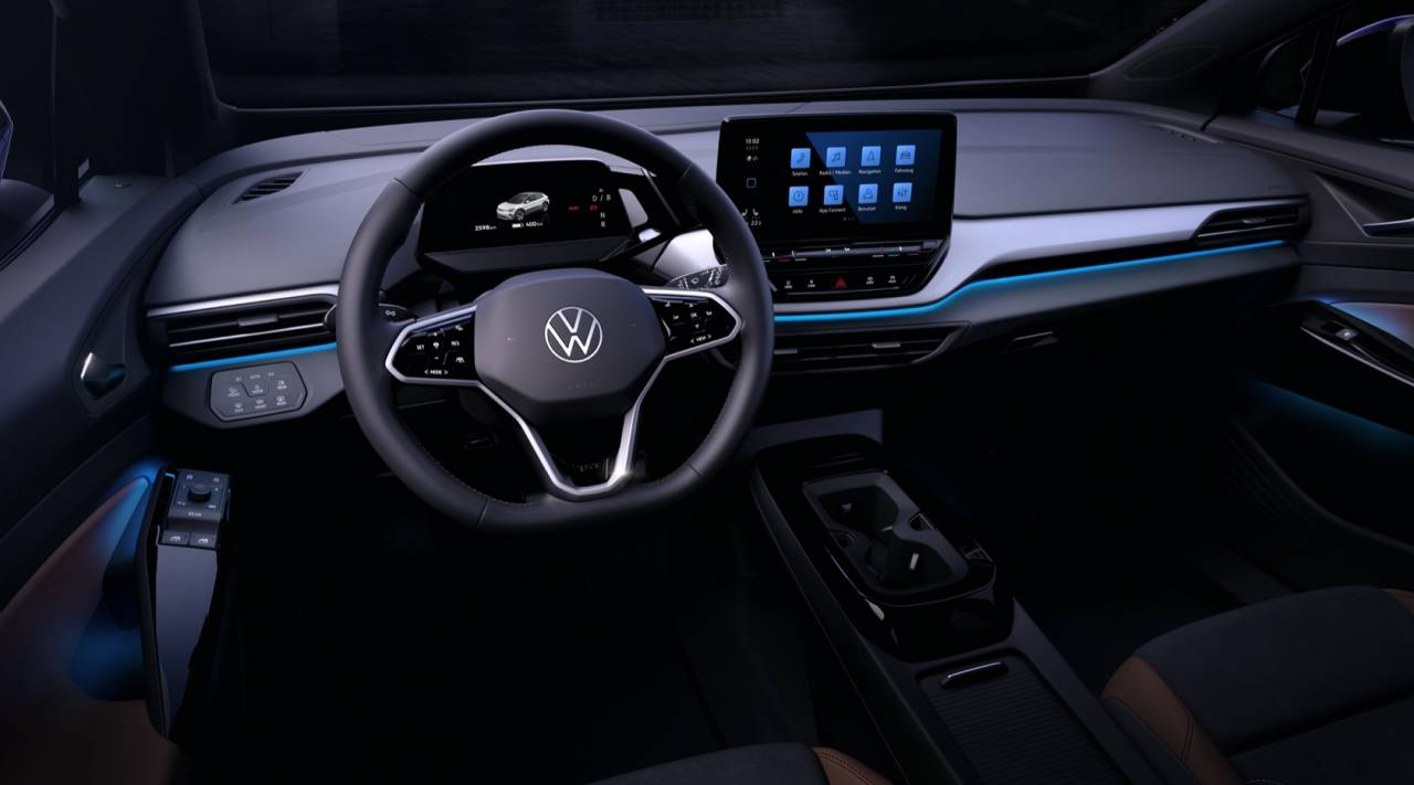Check out that sleek interior in Volkswagen's new ID 4 electric SUV